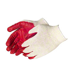 Liberty White Cotton/Poly String Knit w/Red Latex Palm-Large