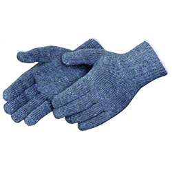 Liberty Regular Wt. Gray Cotton/Poly String Knit Gloves