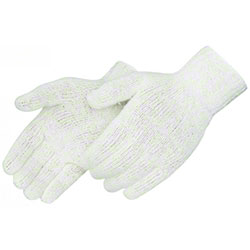 Liberty Regular Wt Gray Cotton/Poly String Knit Gloves