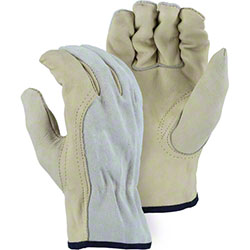 Majestic Combination Cowhide Drivers Glove