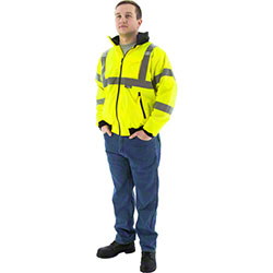 Majestic High Visibility Jacket Waterproof w/Fleece Liner