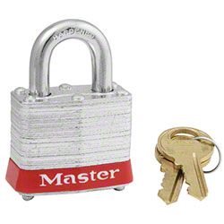 Master Lock® 3RED Laminated Steel Padlock