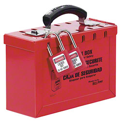 Master Lock® 498A Latch Tight™ Red Group Lock Box