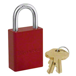 Master Lock® 6835RED Powder Coated Aluminum Padlock