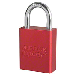 American Lock® A1105RED Aluminum Safety Padlock