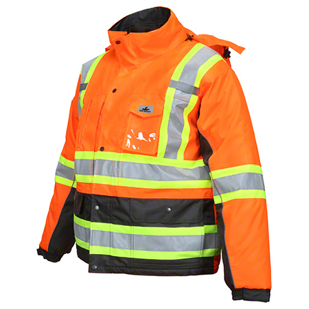 Hi-Visibility VT31JH Orange Insulated Vortex Jacket - Large