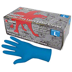 MedTech™ Powder-Free Blue Latex Exam Glove