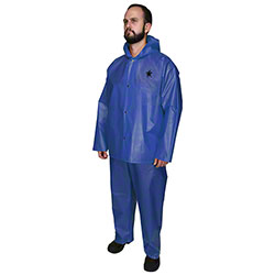 Navigator 563JH Blue Rainwear Jacket w/Attached Hood
