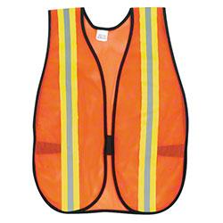 V201R Safety Vest - One Size, Lime/Silver