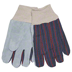 Memphis Knit Wrist Clute Pattern Leather Palm Glove - Large