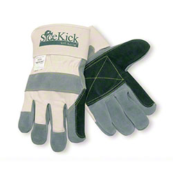 Memphis Side Kick® Green Double Leather Palm Gloves