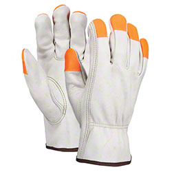 Memphis 3213CHVSP Leather Drivers Glove w/Orange Fingertips