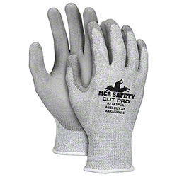 Memphis Cut Pro™ 92743PU Gray Dipped Cut Protection Glove