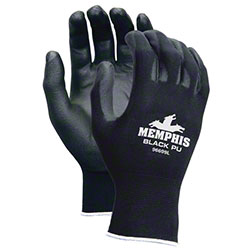 Memphis Black PU Coated Polyester Gloves