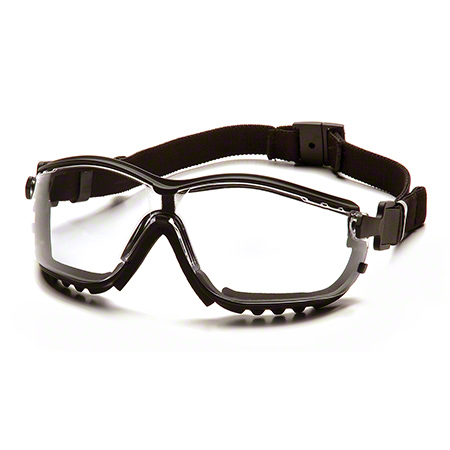 Pyramex® V2G® Glasses - Clear Lens/Black Strap