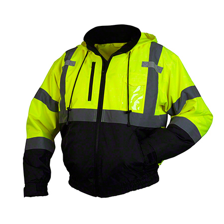 Pyramex® RJ31 Series Hi-Viz Bomber Jacket - Large, Lime