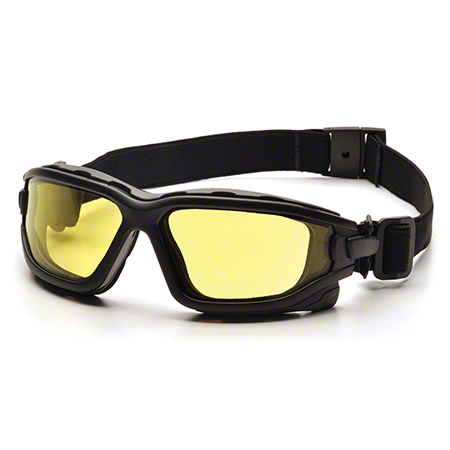 Pyramex® I-Force® Safety Glasses-Amber H2X AF Lens/Black