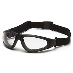 Pyramex® XSG® Glasses - Clear H2XMAX AF/Black Frame