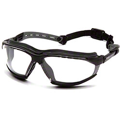 Pyramex® Isotope™ Goggles - Clear H2MAX AF/Black