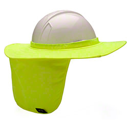 Pyramex® Hard Hat Brim w/Neck Shade - Lime