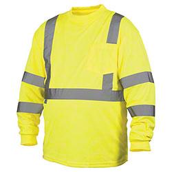 Pyramex® RLTS31 Series Hi-Vis Lime Long Sleeve T-Shirts