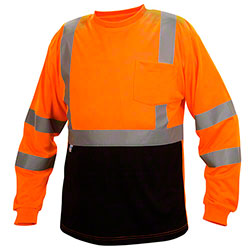 Pyramex® RLTS31B Series Hi-Vis Long Sleeve T-Shirts
