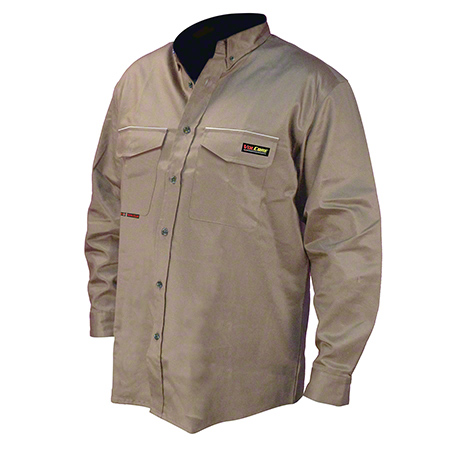 VolCore® Long Sleeve Button Down FR Shirt - Large, Khaki