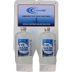 VisionAid™ 16 oz. Double Eyewash Station