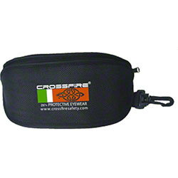 Crossfire® Black Oxford Zippered Pouch