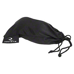 Radians® Black Microfiber Drawstring Bag
