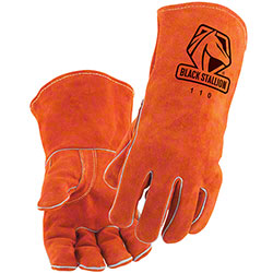Black Stallion® Select Shoulder Split Cowhide Stick Gloves