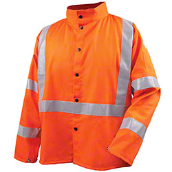 Black Stallion® Safety Welding Jacket w/FR Reflective Tape