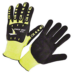 Seattle Glove Hi-Vis Green TPR w/Sandy Nitrile Palm Gloves