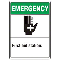 "Safehouse Signs ""Emergency First Aid Station"" Sign"