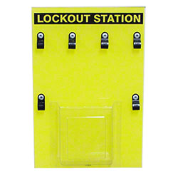 Safehouse Signs 4 Lock Lockout Station - 8 x 12