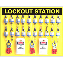 Safehouse Signs 20 Padlock Lockout Station Kit - 19 x 24