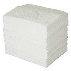 "Oil Plus™ White Absorbent Pad - 15"" x 19"", Heavy Wt."