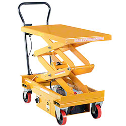 Vestil DC Powered Hydraulic Double Scissor Elevating Cart
