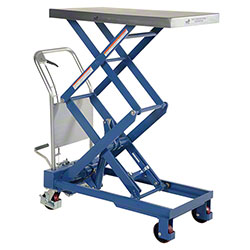 Vestil Hydraulic Elevating Double Scissor Steel Cart