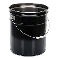 Vestil Open Head Steel Pail - 5 Gal., Black