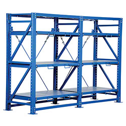 Vestil Heavy Duty Double Roll-Out Shelving