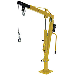 Vestil Hand Pump Winch Operated Truck Job Crane