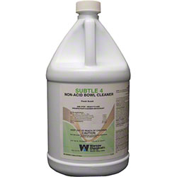Warsaw Subtle 4 Non Acid Bowl Cleaner - Gal.