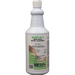 Warsaw Subtle 4 Non Acid Bowl Cleaner - Qt.