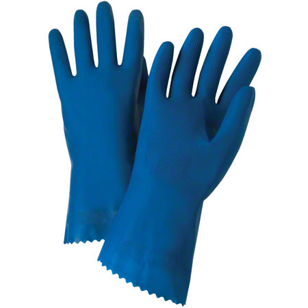 West Chester Economy Unlined Blue Latex Glove - Size 10