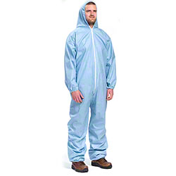 West Chester Blue Posi Self-Extinguishing Coverall w/Hood