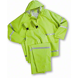 West Chester Green Reflective Rain Suits