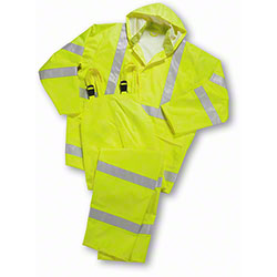 West Chester Hi Vis Lime Green Rainsuit