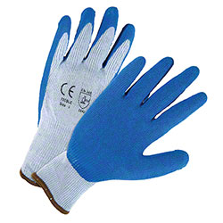 West Chester Blue Crinkle Finish Latex Palm Coated Gloves