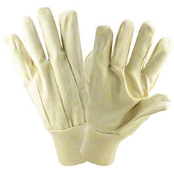 West Chester Natural Cotton/Polyester Canvas Glove - Large